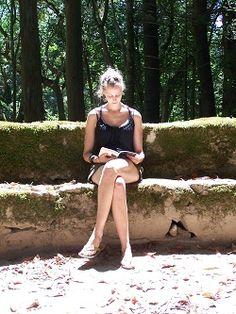Inge leest in Sintra