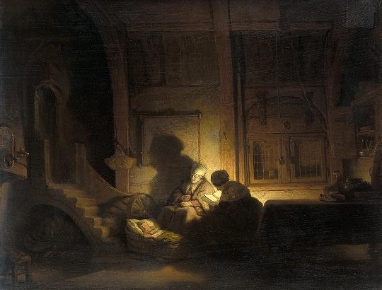 Rembrandt - De Heilige Familie Bij Avond