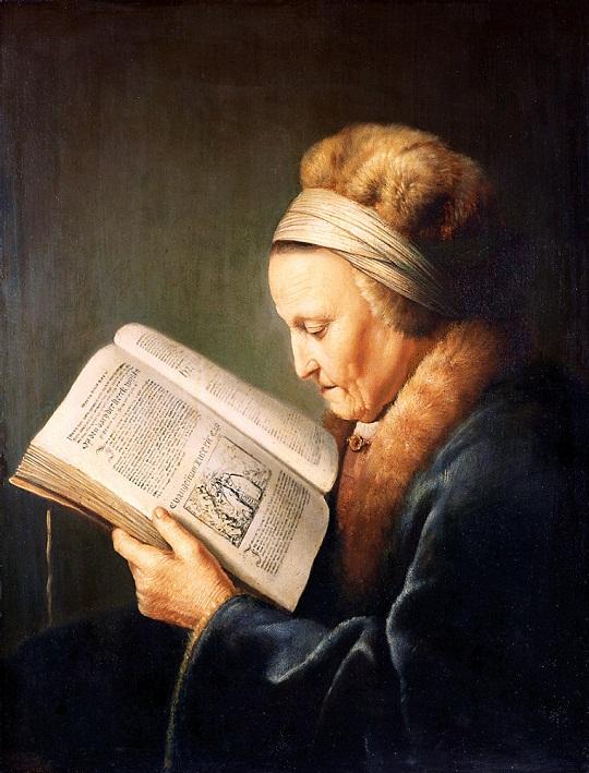 Gerard Dou: 'Portret van een  oude vrouw' (ca. 1630-1635)