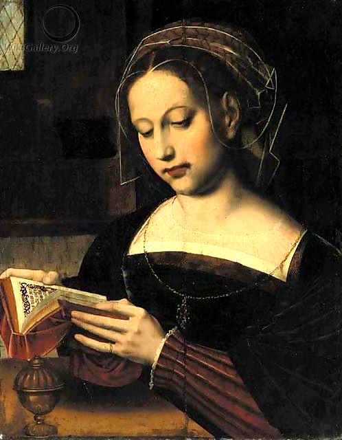 Ambrosius Benson (ca. 1495-1550): 'Lezende Maria Magdalena'