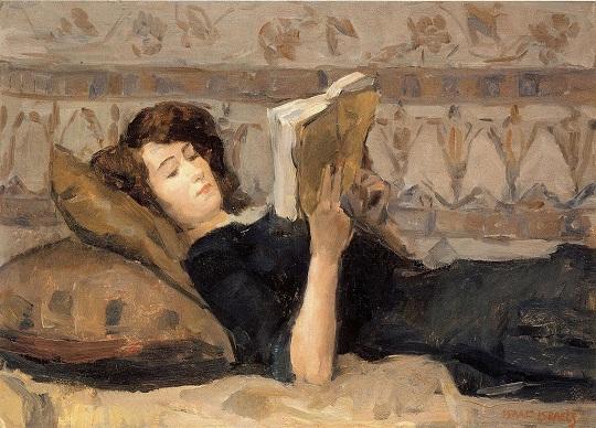 Isaac Israëls: 'Meisje lezend op een divan' (1920)
