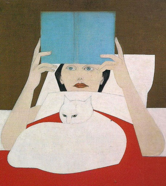 Will Barnet: 'Woman reading' (1970)