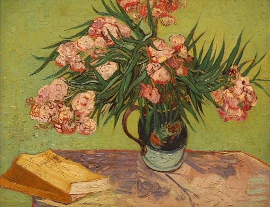 Vincent van Gogh: 'Stilleven: vaas met oleanders en boeken' (1888)
