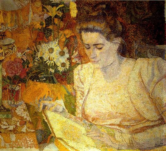 Jan Toorop: 'Portret van mevrouw Marie Jeannette (1865-1932), echtgenote van Jan Bouman' (1900)