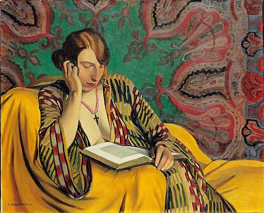 Félix Edouard Valloton: 'La liseuse' (1922)
