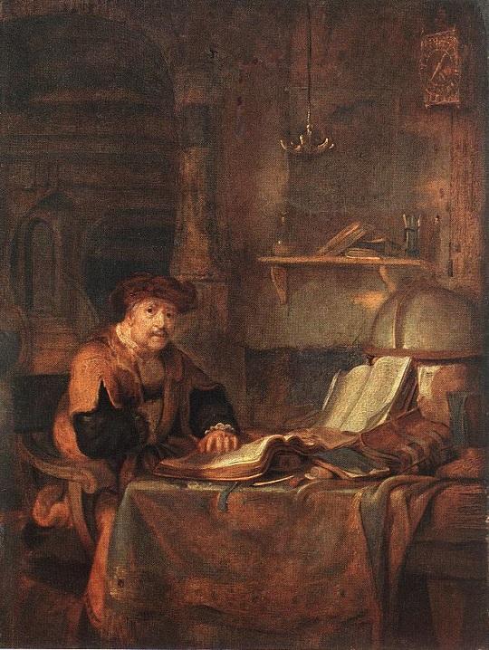 Gerbrand van den Eeckhout: 'Geleerde met zijn boeken' (1671)